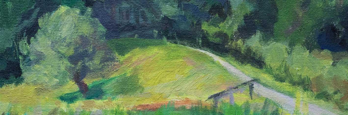 Schilderij door Marianne Mandeville Landschap Hilversum Bantam