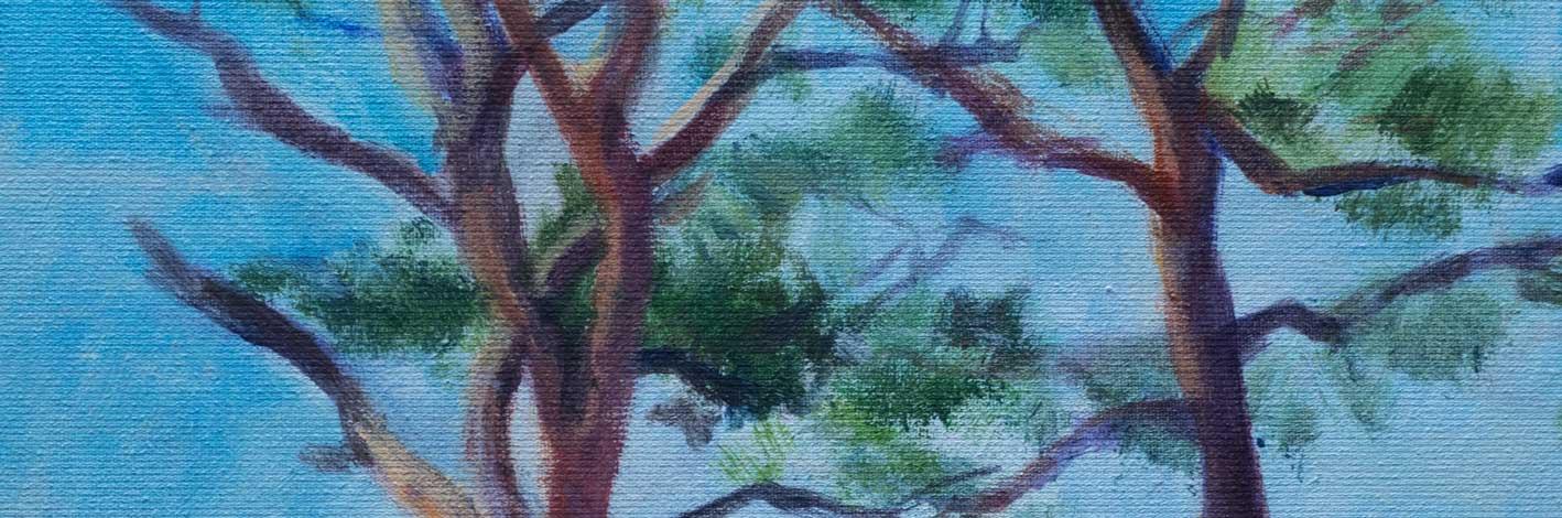 Schilderij Marianne Mandeville bomen Laren